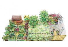 Reihenhasugarten mit ländlichem Flair