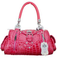 Lydc Desinger Croc Leopard Print Women Handbag Purse