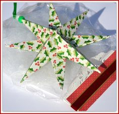 Christmas Star 4 PrePackaged Stars Gift Wrapped Star by PricklyPaw, $28.00