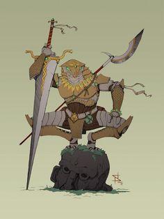 [OC] Warforged Ranger : characterdrawing