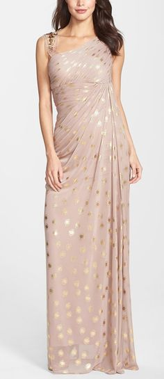 Shimmery polka dot dress by Adrianna Papell