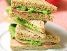 Green Pea Avocado Radish Sandwiches