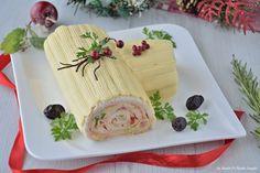 Il tronchetto di Natale salato è un antipasto perfetto da portare in tavola durante le festività, il successo è assicurato!