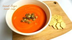 Coconut Ginger Carrot Soup made easy, cheap and vegan.