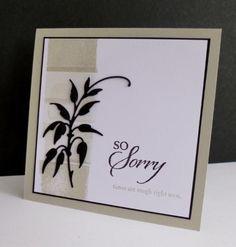 CAS265 ~ So Sorry by sistersandie - Cards and Paper Crafts at Splitcoaststampers