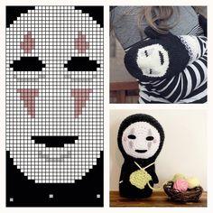 No-Face (Kaonashi) mittens amigurumi and chart ... plus FREE knit & crochet patterns! Links on KnitHacker ... #noface #spiritedaway #yarn #iloveyarn #instayarn #yarnlove #yarngasm #yarnstagram #knithacker #yarnaddict #knit #knitting #instaknit #knittersofinstagram #knitlove #iloveknitting #instaknitting #knits #tricot #handmade #diy #craft #crafts #geekery #crochetlovers #instacrochet #crochetaddict #crochet #crochetersofinstagram by knithacker