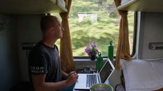 Working away on the blog in our 4-berth soft sleeper