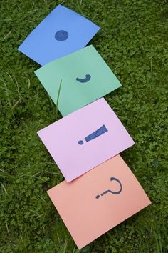 With nothing more than a flat open space and some lively kids, you can reinforce key concepts of punctuation while having lots of healthy laughs.