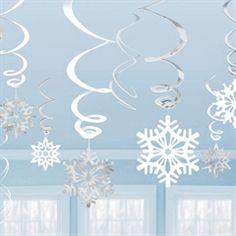 Metallic Snowflake Swirls - 12 Pack from Windy City Novelties