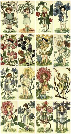 We've gathered our favorite ideas for Victorian Flower Children Collage Sheet Printed Collage, Explore our list of popular images of Victorian Flower Children Collage Sheet Printed Collage in decoupage collage. Victorian Flowers, Vintage Flowers, Victorian Art, Domino Art, Flower Collage, Vintage Botanical Prints, Free Collage, Vintage Ephemera, Vintage Art