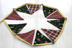 Gingerbread Holly-button Bunting by MissFigTree on Etsy