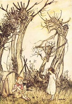 Mother Goose - Man in the Wilderness by Arthur Rackham
