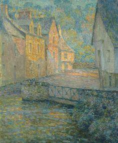 """Henri Le Sidaner (French, 1862-1939), Matin doré [Golden morning], 1920. Oil on canvas, 73 x 60.2 cm. """