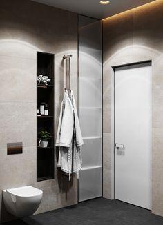 - Dubrovka - Master bedroom - Master bathroom - on Behance Bedroom Furniture Design, Bathroom Interior Design, Modern Exterior House Designs, 2017 Design, Modular Furniture, Residential Architecture, Luxurious Bedrooms, Master Bathroom, Adobe Photoshop