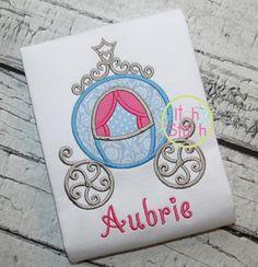 I2S Princess Carriage Applique design