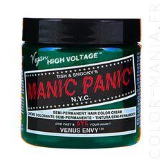 coloration cheveux vert venus envy manic panic color maniafr - Dcoloration Cheveux Colors