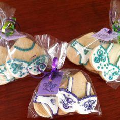 Bachelorette Party <Decorated Lingerie Sugar Cookie Party Favors> #bachelorettepartycookies