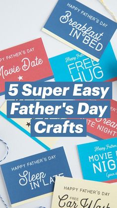 Homemade Fathers Day Card, Cheap Fathers Day Gifts, Easy Fathers Day Craft, Diy Father's Day Gifts, Father's Day Diy, Easy Gifts, All You Need Is, Father's Day Movie, Crafts To Make