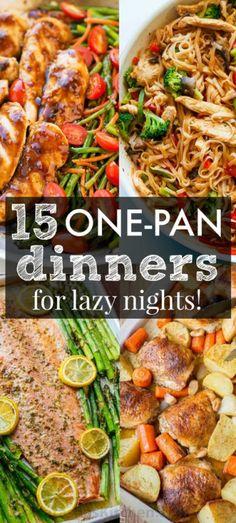 15 One Pan Recipes to Get You Excited for Dinner!Really nice Mein Blog: Alles rund um die Themen Genuss & Geschmack Kochen Backen Braten Vorspeisen Hauptgerichte und Desserts