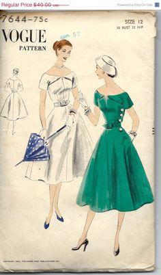 Vogue 7644, ca 1952; Sz 12/Bust 30 - ADORE!!!