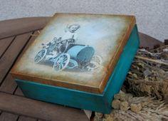 pudełko dla chłopca decoupage