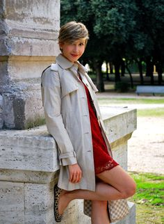 Trench, Pizzo Rosso & Animalier   Coffee Blooms