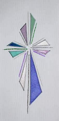 White stole design abstract cross II