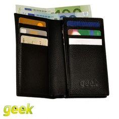 Geek Leder-Etui mit Geldscheinfach für #iPhone 4S/4 bei www.StyleMyPhone.de Iphone 4s, Samsung, Leather Accessories, Geek Stuff, Slipcovers, Leather, Geek Things, Iphone 4