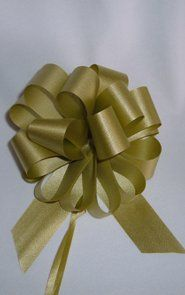 50 Pull String Bows - Gift Wrap Packaging - 5' 20 Loops - 1 1/4' - Old Gold - Wholesale Lot - Holiday Present packaging -- You can find more details by visiting the image link.