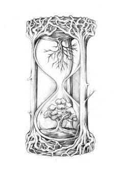 clock #tree_tattoo_ideas