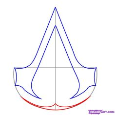 how to draw assassins creed step 3