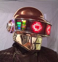 Daft Punk Thomas Bangalter Chrome full led helmet by Dylant426
