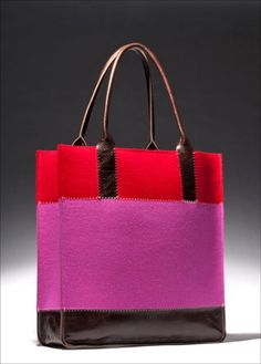 Felt & Leather - must make this!