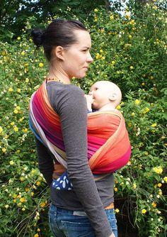 Using a woven wrap - Hip Cross Carry