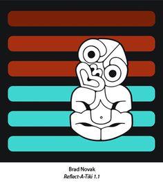 Tiki a la Brad Novak Design, Maori Art, Illustration, Painting Illustration, Art Forms, Culture Art, Painting, Mural Design, Art