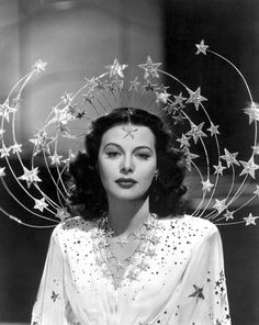 suspended headpiece | Her star gown and jewels are absolutely delightful but it's that ...