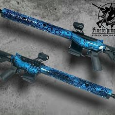 You can turn your rifle into a kick ass build like this!  Just order any of our hand guards in the raw / ready to paint finish and send your parts to @pinstripingbyrat ⠀  ⠀  👉🏼Link in @offhandgear bio to see the whole collection..