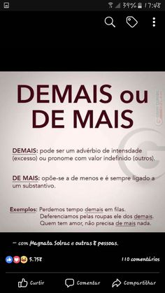 Portuguese Lessons, Study Hard, Grammar, Lp, Learning, School Tips, Teaching Tips, Grammar Rules, Note Cards