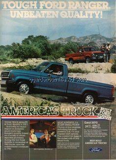 1984 Ford Ranger F-150 Pickup/Pick-up Truck photo Vintage Magazine Print Ad