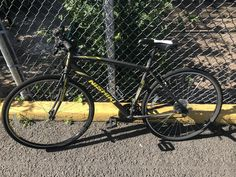 "Recovered black, grey and yellow, ""Manitiba Nishiki"" mountain bike. Found on Sunset Road on Sunset Road, Mountain Biking, Police, Bicycle, Yellow, Grey, Black, Bicycle Kick"