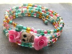 Check out this item in my Etsy shop https://www.etsy.com/listing/290665863/day-of-the-dead-bracelet-frida-sugar