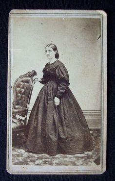 "1860's Civil War Era CDV Photo Tax Stamp Toledo Ohio ""Ellen Jenings"" written on back Jennings | eBay"