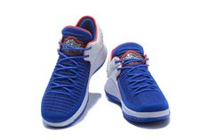5435d14cc8d7 Air Jordan 32 Low PE Royal Blue White-Red Flyknit