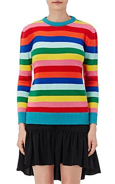 We Adore: The Striped Rib-Knit Sweater from Saint Laurent at Barneys New York