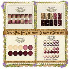 Roses For My Valentine - Designer Resource http://oceanmystdesigns.blogspot.pt/p/stores-i-design-for.html