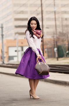 Purple #tulle #skirt #midiskirt #fullskirt