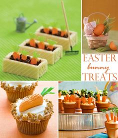what fun ideas for easter time. I love the carrots and hummus especially! That is one of our favorite foods at our house!