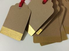 Made some Christmas gift tags! They're for sale in my {newish} Etsy shop. I love the gold-on-Kraft look.