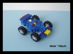 Voiture de formule 1 bleu en 3 Dimension  : Perles par magic-perles sur ALittleMarket