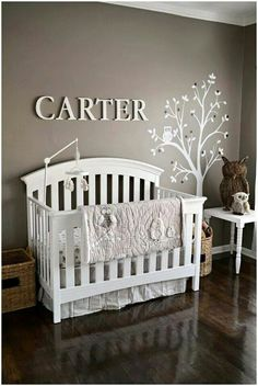 Taupe nursery room